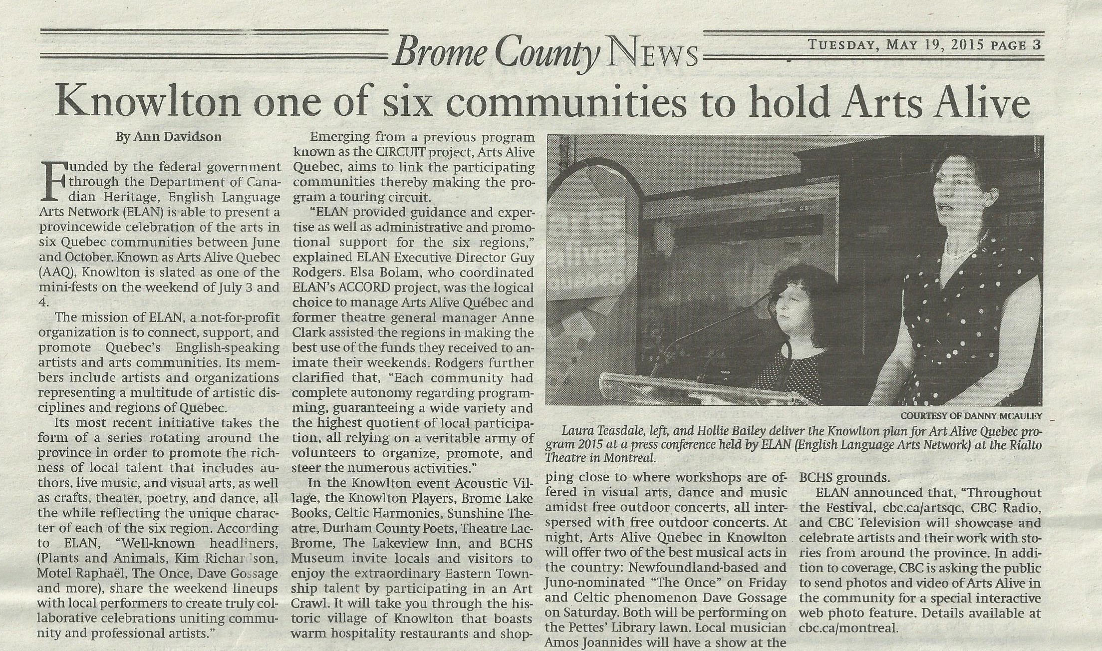 AAQ- Brome County News (2015)