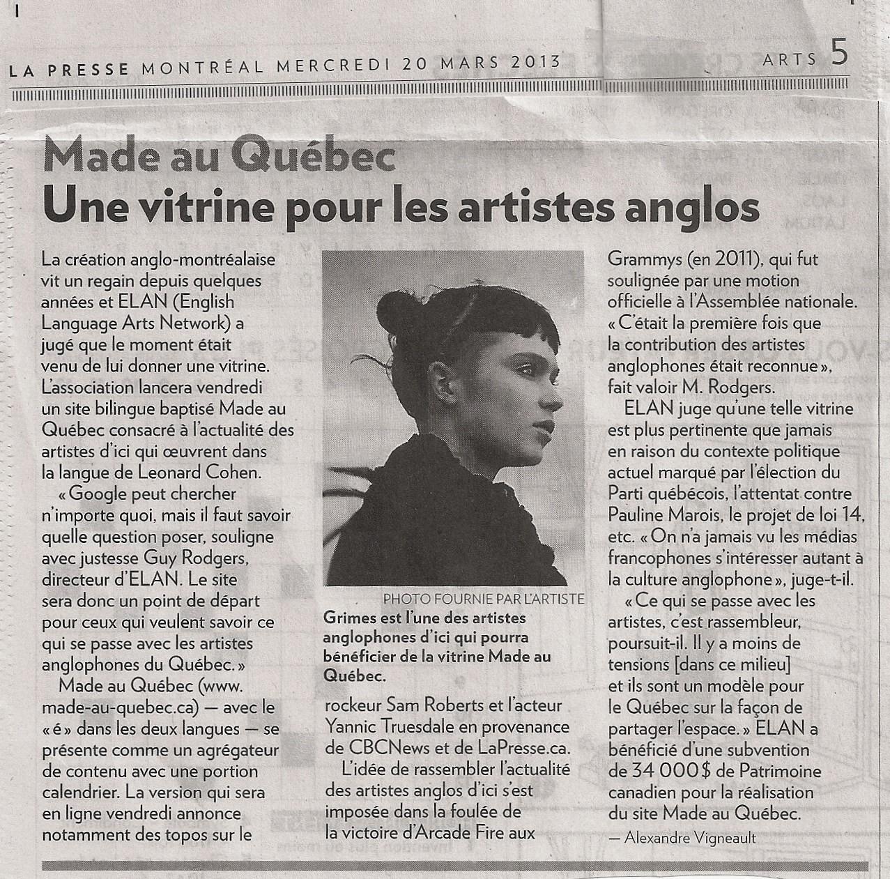 MAQ- La Presse (2013)
